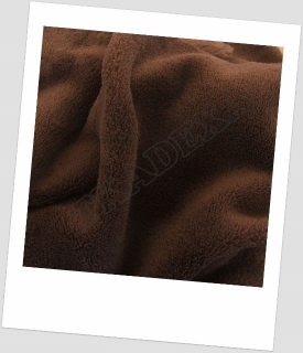 "Coral fleece SOFT ""1084"" - HNĚDÁ=60cm"