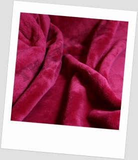 "Coral fleece SOFT ""1046"" - FUCHSIE=50cm"